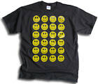 Mens Funny Smiley Faces T Shirt Sm - 3XL