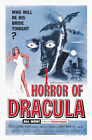 "Classic Movie -Horror of Dracula- 24""x36"" Giclee Print on Canvas"