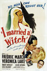 """Classic Movie Print -I Married a Witch- 24""""x36"""" on Canvas"""