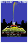 """Vintage Travel Art - On Chicago's Lake Front - 24""""x36""""  Print on Canvas"""