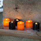 Black & Orange Halloween Battery LED Tea Light Candles 4, 8, 12, 24, 48, 96 Pack