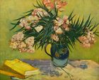 "Vincent Van Gogh- Still Life with Oleander - 20""x26""  Art on Canvas"