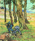 """Vincent Van Gogh- Two men in digging out a tree stump - 20""""x26"""" Art Canvas"""