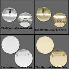 10 Gold OR Silver Plated Pin Backs *For Perforated Beading Disc Cabochon & More