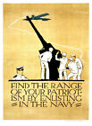 "Find the range of your Patriotisim - 20""x32"" Military Recruiting Poster Canvas"