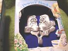 FINE PEWTER WALL HOOKS - WATERING CAN, BIRDHOUSE and BABY SHOES