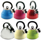 2.5L STAIINLESS STEEL LIGHTWEIGHT WHISTLING KETTLE CAMPING FISHING HOME CORDLESS