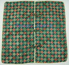 """New Chinese Check Brocade Cushion Covers Gifts Green 16"""" X 16"""" One Piece GB0484"""