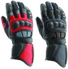 PRO LEATHER MOTORBIKE MOTORCYCLE GLOVES GR - ALL SIZES - COLOURS