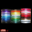 10MM x 10 METRES DOUBLE SIDED HIGH QUALITY SATIN RIBBON, ASSORTED COLOURS