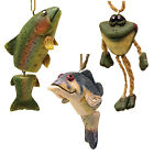 North American Bass, Frog, or Rainbow Trout Fish Christmas Ornaments