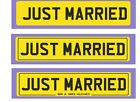 JUST MARRIED NUMBER PLATE ~ PERSONALISED ~ WEDDING DECORATION FOR CARS ~~ GIFT