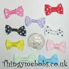 5 BEAUTIFUL 25mm POLKA DOT RIBBON BOWS - COLOUR OPTIONS - CRAFTS/SEWING