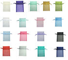 "25pc 50pc 100pc 17x22cm Organza All Occasions Christmas Large Pouch Bag 7""x9"""