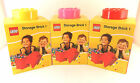 LEGO STORAGE BRICK 1 STUD LUNCH BOX NEW 3 COLOURS SHIP WORLDWIDE