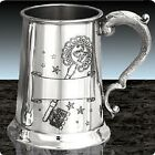 NEW 21ST AND 18TH BIRTHDAY ENGRAVED PERSONALISED TANKARD KEY AND SCROLL DESIGN