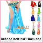 Belly Dance Satin Skirt with Slits Sexy Dancing Costume 12 Colours -AS08
