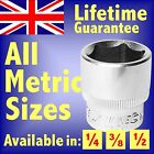 METRIC HEX SOCKETS 1/4 3/8 1/2 SQUARE DRIVE ALL SIZES STANDARD & DEEP