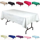 "5 Lot 60""×126"" Seamless Rectangle Polyester Tablecloths High Quality Made in USA"