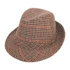 Mens / Ladies Tweed Country Trilby Hat Summer Sun Hat