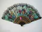 Chinese hand folding fans , black handles, various pattern designs to choose