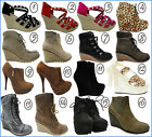 New Ladies Wedges Stilettos Platforms Designer Clearance Boots Sale Uk Size 3-8