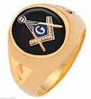 Mens 10k or 14K Open Back White or Yellow Gold 3rd Degree Masonic Ring