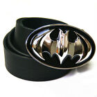 VTG COOL 3D Superhero Batman Bat Man Leather Womens Waist Men's Belt Buckle Gift