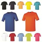 Plain Solid Coolon Dry fit Crewneck tshirts Casual Sports wear Top Tee Shirt 13