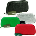 KENNETH COLE REACTION ZIP-AROUND WOMENS CLUTCH WALLET EMBOSSED LOGO PRINT