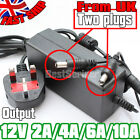 DC 2A/4A/6A/10A 12V Adapter Power Supply for 5050 3528 LED Strip Roll UK Stock