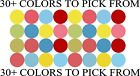 "1/2"" INCH POLKA DOTS VINYL STICKERS WALL DECOR"