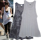 t25 CELEBRITY style Flattering A line Loose fitting Burn out layering top tunic