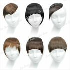 Clip In On Forehead Inclined Neat Trim Bang Fringe Hair Wigs Extension Headwear