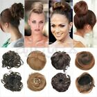 Women Lady Clip-on Dish Hair Bun Tray Ponytail Extension Hairpiece Wig Scrunchie