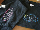 O.B.G Owned By God T-Shirt Christian TShirt, Black with Pink or Blue Lettering