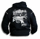 Mens Biker Pool 8 Ball Cats Suck Saloon Sleeve Print Hoodie Hooded Top Sm - 2XL