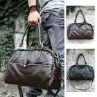 Large Leather Men's Duffle Sports Shoulder GYM Schoolbag Bag