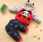 BABY TODDLER 2PC PANDA SNOWSUIT WINTER OUTFIT WARM & THICK JACKET TROUSERS