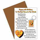 HAPPY BIRTHDAY NANA AGES 35 TO 80 CARD & KEYRING GIFT VERSE FROM A CHILD