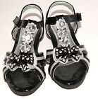 GIRLS HOT DRESSY EVENING PARTY SHOES BLACK SIZE 10