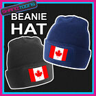 BEANIE HAT CANADA CANADIAN  MAPLE LEAF FLAG EMBLEM DESIGN