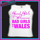 BAD GIRLS GO TO WALES  HEN PARTY HOLIDAY VEST TOP