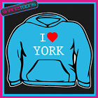 I LOVE HEART YORK HOODIE ALL SIZES & COLOURS