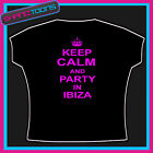 KEEP CALM AND PARTY IN IBIZA CLUBBING HOLIDAY TSHIRT