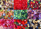 BUTTONS ASSORTED Purple Green Blue Pink 40g 80g large small cards sewing craft