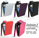LEATHER FLIP SERIES CASE COVER & SCREEN PROTECTOR & STYLUS FOR HTC WILDFIRE S