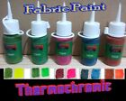 Set of Five 65ml Heat reactive colour change Thermochromic FABRIC Paint