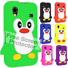 Fits, Samsung Galaxy Ace S5830 Case Cover, Silicone Skin, New Penguin Series