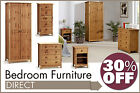 Viking Stained Pine Bedroom Furniture, bedside table, chest of drawers, wardrobe